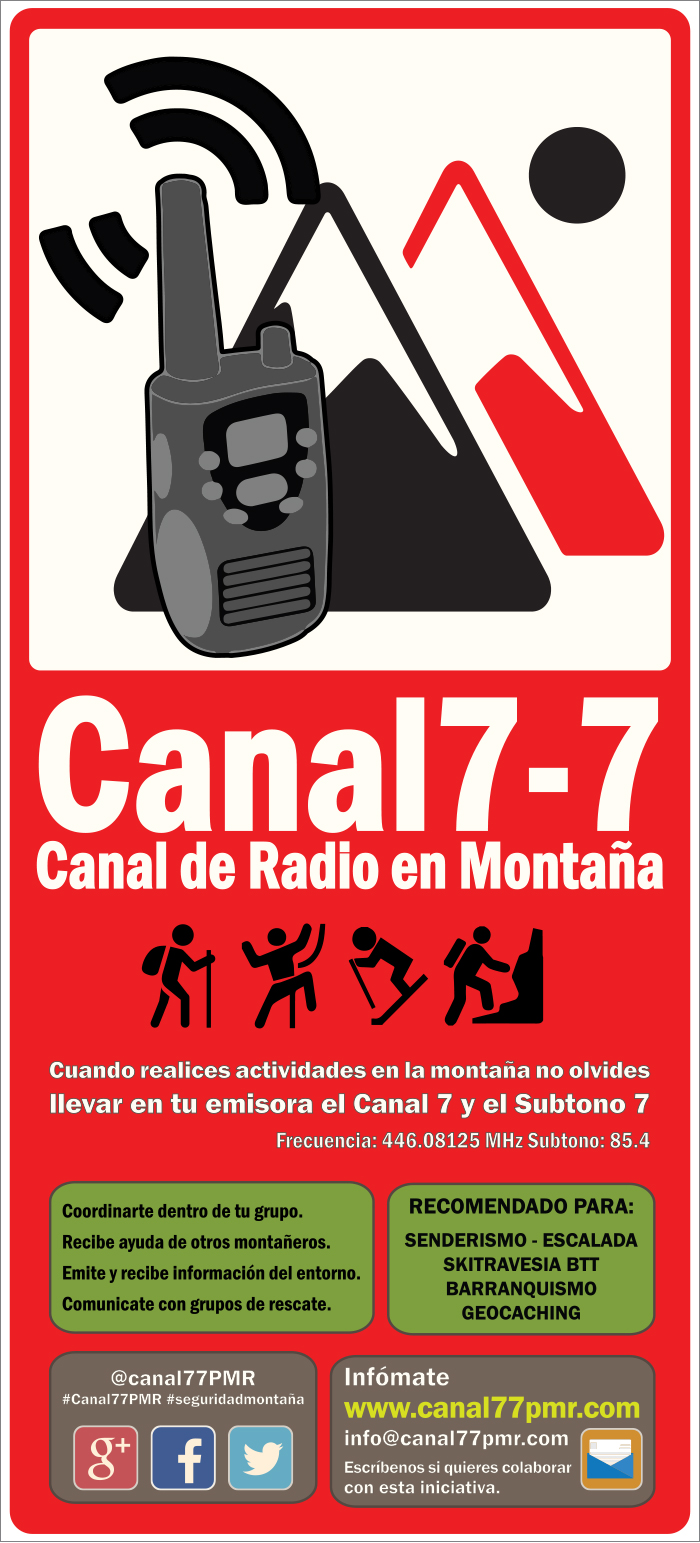Walky-Talky / Radio en montaña CartelCanal77-700px